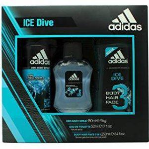 Adidas Ice Dive Gift Set 150ml Deodorant Body Spray + 250ml Shower Gel