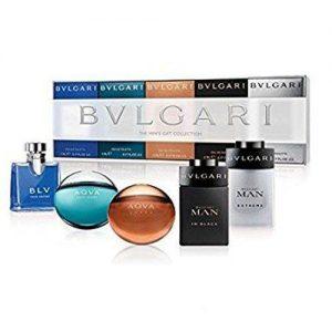 Bvlgari Men Miniature Collection Gift Set 4 x 5ml EDT + 5ml EDP