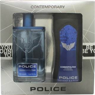 Police Contemporary Gift Set 100ml EDT + 100ml Be Younique Shower & Shampoo