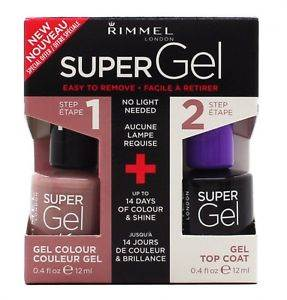 Rimmel Super Gel Gift Set 12ml Nail Polish in 012 Soul Session + 12ml Top Coat